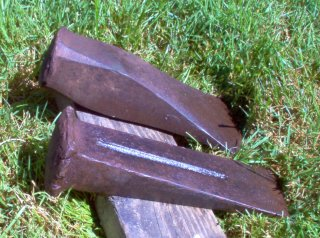 Splitting Wedges Are Steel Cutting Wedges Are Plastic